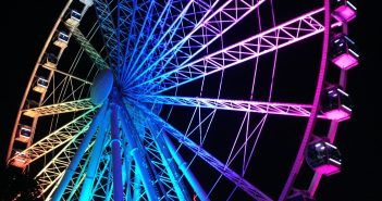 SkyWheel at Night