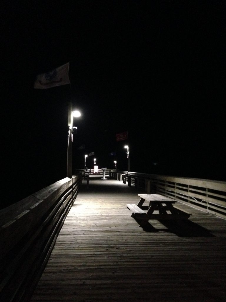 Pier 14 in the night