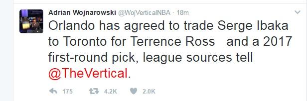 Serge Ibaka NBA Trade