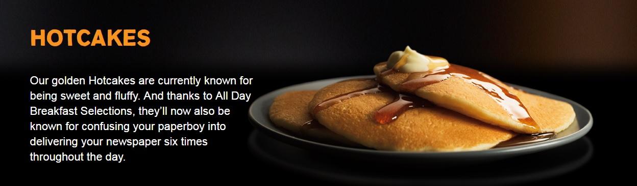 #AllDayBreakfast - hotcakes