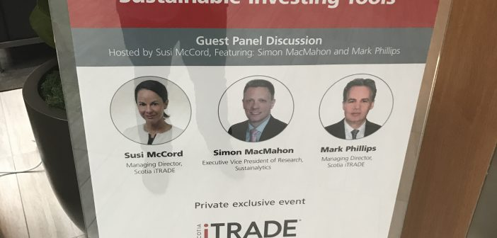 "Scotia iTRADE – Private Exclusive Event: ""Seminar Series Event"" – Sustainable Investing"