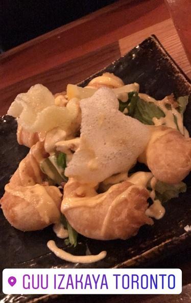 Prawn tempura with chili mayo