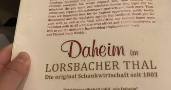 Daheim im Lorsbacher Thal: Authentic German Cuisine – Frankfurt, Germany (Frankfurt am Main)