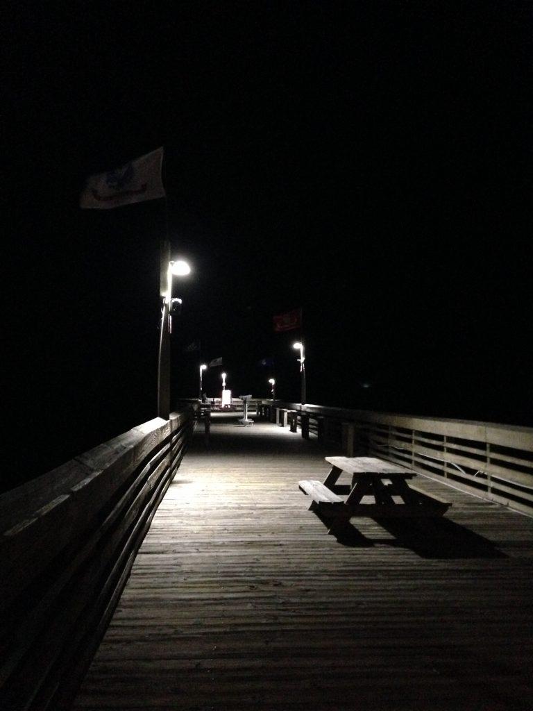Pier 14 in the night