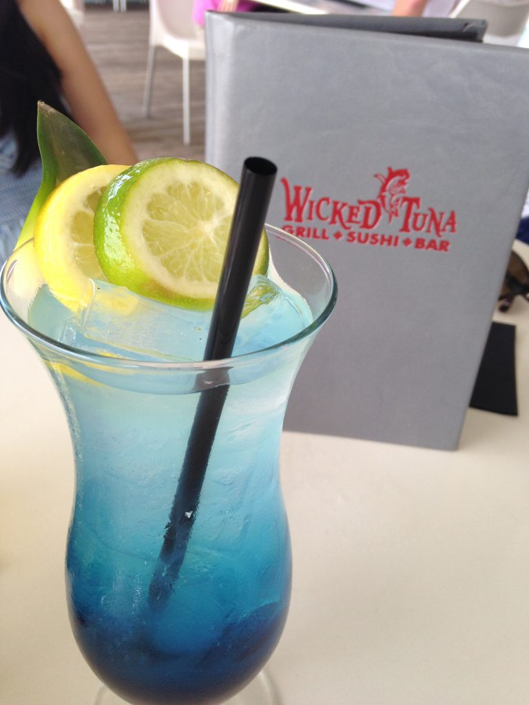 Specialty cocktails available at Wicked Tuna.