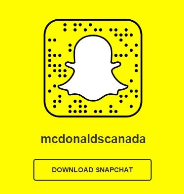 McDonald's Canada on SnapChat