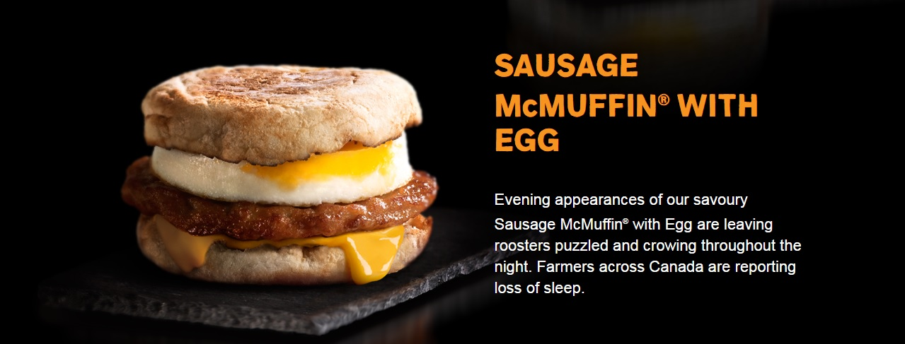 #AllDayBreakfast - Sasuage McMuffin with Egg